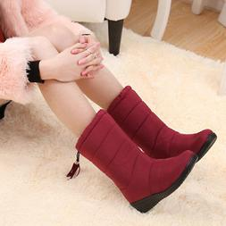 1 Pair Women Lady Winter Boots Soft Warm Thicken Waterproof