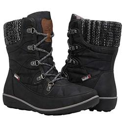 GLOBALWIN Women's 1841 Black Winter Snow Boots 8.5M