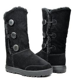 DREAM PAIRS TRYTE Women's Winter Snow Triple Button Fully Fu
