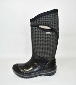 New Bogs Plimsoll Houndstooth Tall Waterproof Winter Boot Bl