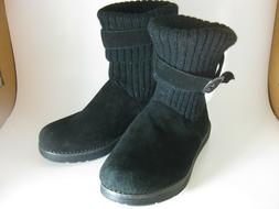 Skechers Adorbs Suede Soft Top Black Winter Boots  SN 48625