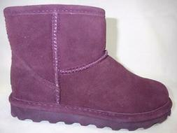 Bearpaw Alyssa Purple Women's Winter Boots Leather Wool Line
