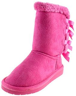 Forever Link Ann 34K Little Girls Shearling Bow Tie Fur Boot