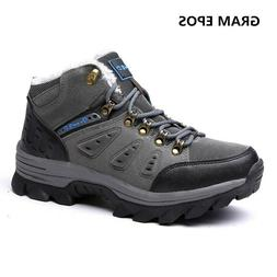 Asifn Men's Boots Winter High Top Snow Boots Leather Outdoor