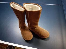 SKECHERS AUSTRALIA TAN MID-CALF WINTER BOOTS Woman's SIZE 6.