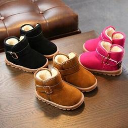 Baby Boy Girl Winter Thermal Cozy Crib Shoes Snow Boots 1-6T
