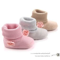 Baby Girl Flower Winter Boots Shoes Toddler Cotton Warm Shoe