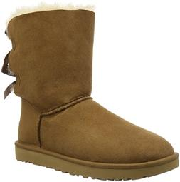 Ugg Women's Bailey Bow II Chestnut Ankle-High Suede Boot - 5