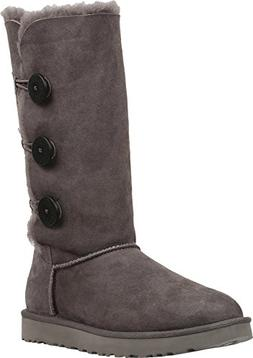 Women's Ugg 'Bailey Button Triplet Ii' Boot, Size 7 M - Grey