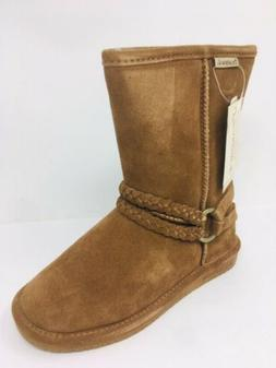 Bearpaw Boots Adele Suede Sheepskin Wool Lining Winter Mid B