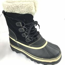 Boots Shoes Men's Winter Snow Waterproof Padded Sherpa Colla