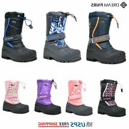 DREAM PAIRS Kids Girls Boys Winter Snow Boots Warm Waterproo