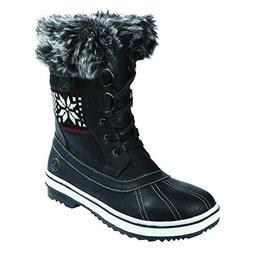 Northside Women's Brookelle Winter Snow Boot, Black, 8 B US