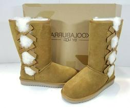 Koolaburra By UGG Victoria Tall Winter Boots Leather Suede F