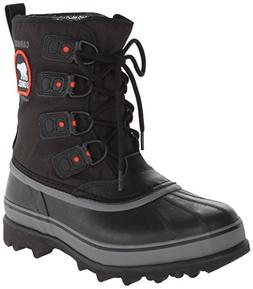 Sorel Men's Caribou Extreme Snow Boot,Black/Shale,10 M US
