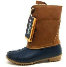 Northside Carrington Brown+Blue Women's Duck Boots Waterproo