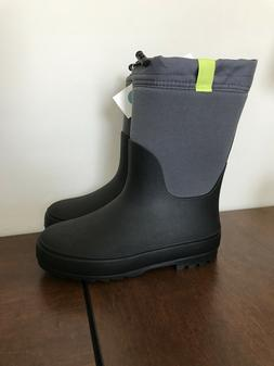 Cat & Jack Boys Robbie Winter Boots - Black & Grey - Youth S