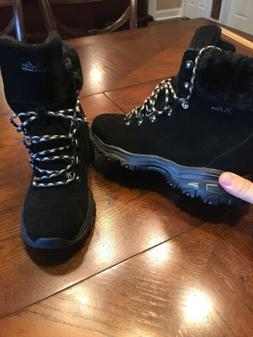 Skechers d'lites Alp Boots Womens Waterproof Winter Fur Line