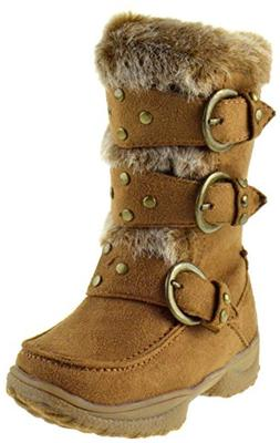 Forever Link Emily 8 Little Girls Fur Buckled Winter Boots T