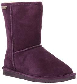 BEARPAW Women's Emma Short Fashion Boot, Plum, 8 Medium US