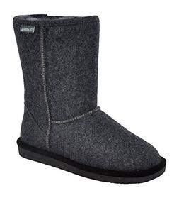BEARPAW Women's Emma Short Winter Boot, Grey Wool, 7.5 M US