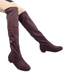 Fashion Women Winter Flat Bottom Shoes Over The Knee Thigh H