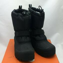 frosty kids winter snow boots black toddler