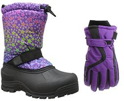 Northside Frosty Snow Boot, Purple Multi, 2 M US Little Kid