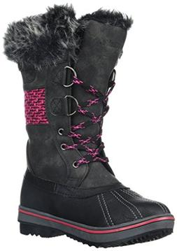 Northside Girls' Bishop JR Mid Calf Boot, Black/Fuchsia, Siz