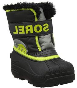 SOREL Girls' Children's Snow Commander Boot, Dark Grey, Warn