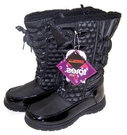 Totes Girls Kelly  Winter Snow Boots  NIB  Black Zip & Lace