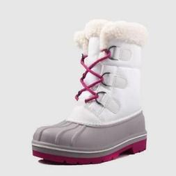 Girls' Roma Winter Boots - Cat & Jack™ White