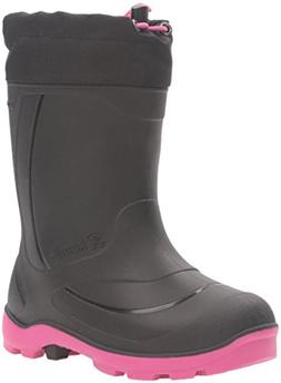 Kamik Girls' Snobuster1 Snow Boot, Black/Magenta, 13 Medium