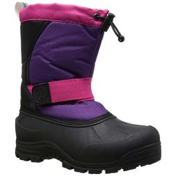 girls snow boots purple insulated waterproof zephyr