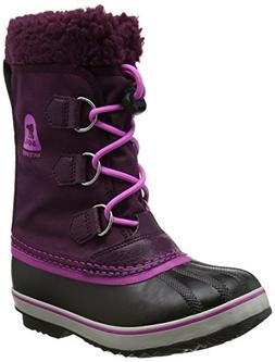 Sorel Girls' Yoot Pac Nylon, Purple Dahlia, Foxglove, 6 M US