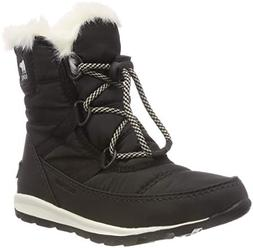SOREL Girls' Youth Whitney Short Lace Snow Boot, Black, sea