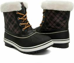 GLOBALWIN Women's 1632 Black Grey Snow Boots