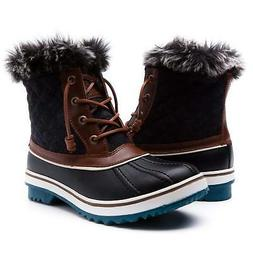 Global Win GLOBALWIN Women's 1632 Black Grey Snow Boots