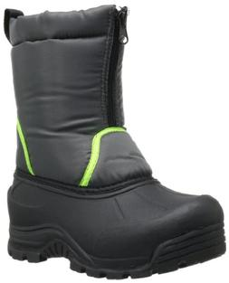Northside Icicle Unisex Boot ,Dark Grey/Lime,2 M US Little K