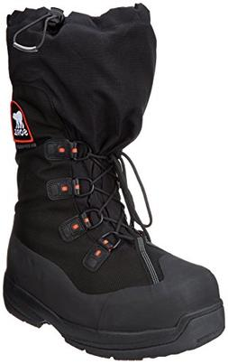 Sorel Men's Intrepid Explorer Extreme Snow Boot,Black/Red Qu