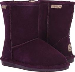 BEARPAW Kid's Emma Youth 6.5'' Boots, Purple, 3 Little Kid M