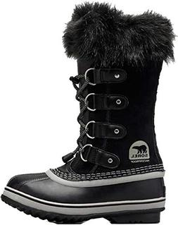 SOREL Youth Joan of Arctic Snow Boot, Black/Oyster, Size 1 L