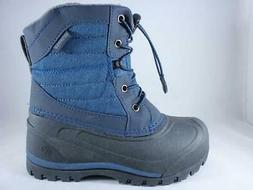 kids snow boots blue waterproof insulated winter