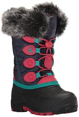 Kamik Kids' Snowgypsy Snow Boot, Navy/Rose, 8 Medium US Todd