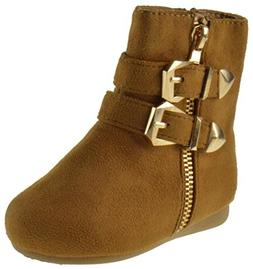 Forever Link Klein 90KA Little Girls Fur Buckled Winter Boot