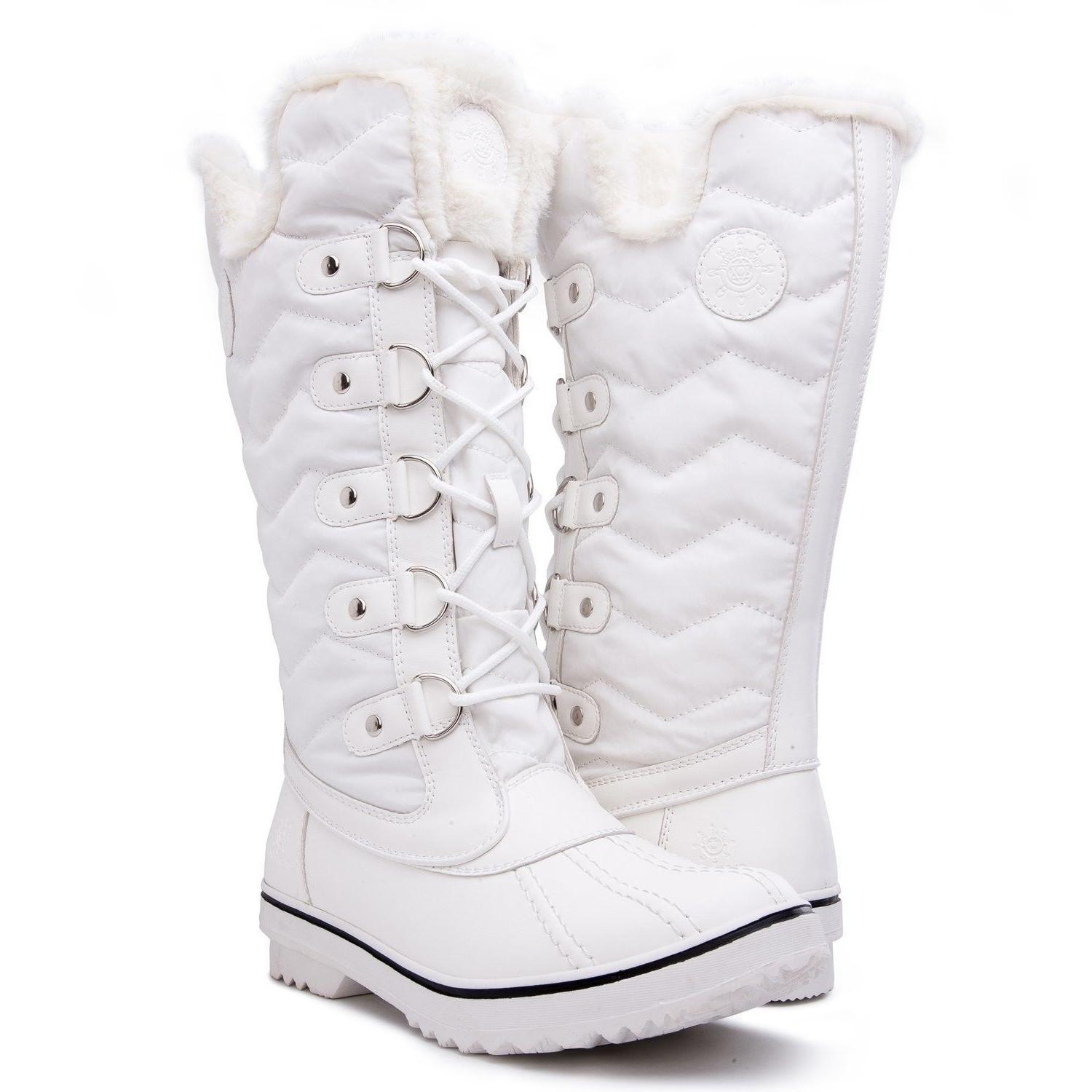 Kingshow Women's Globalwin White Waterproof Winter Boots - 5