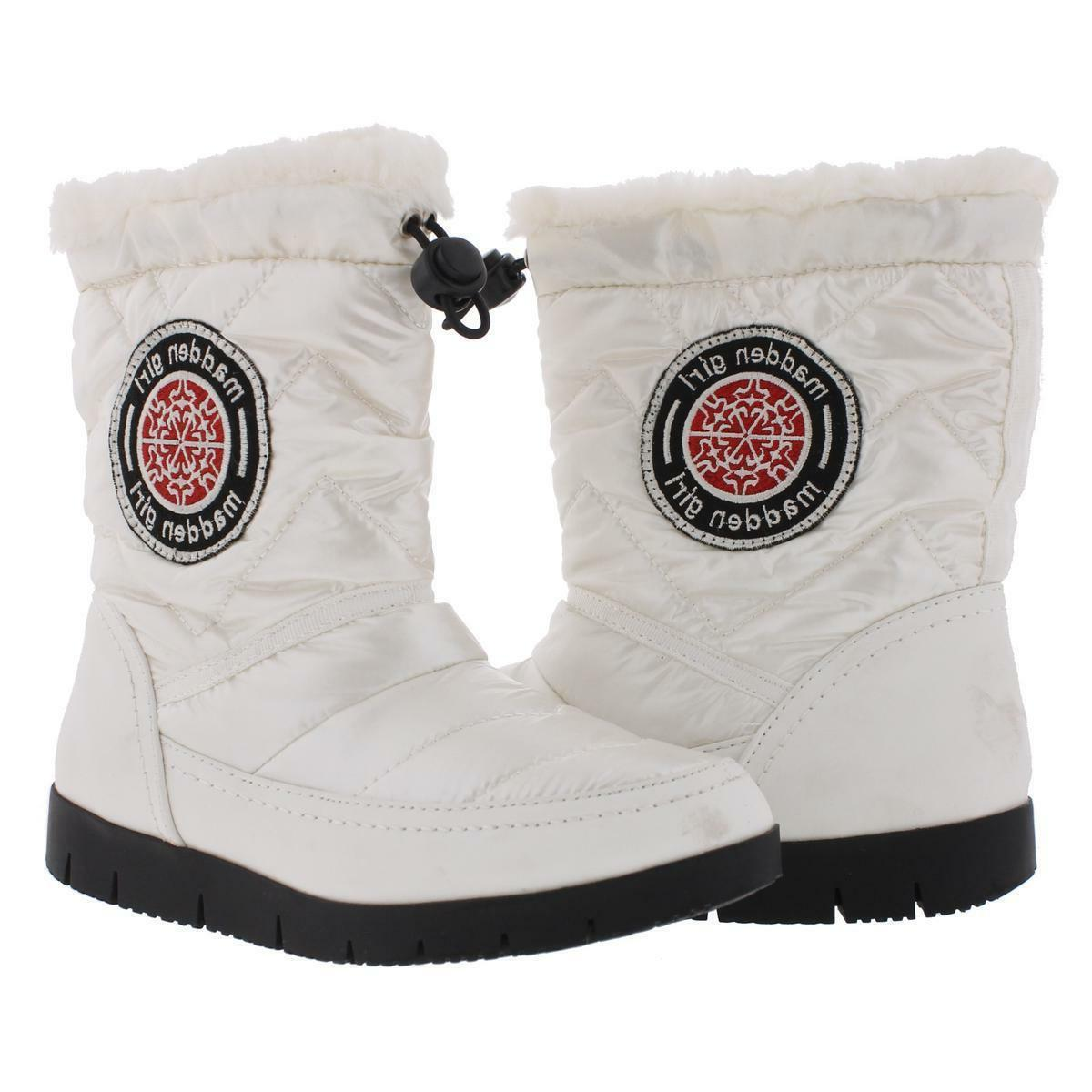 MADDEN GIRL ICICLE WHITE QUILTED WINTER BOOTS WOMENS SHOES S
