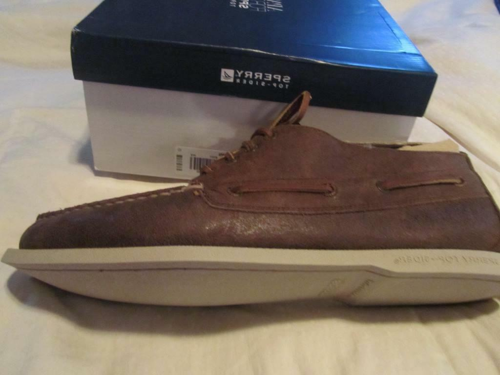 Sperry Winter Chukka Brown Boots Shoes NIB 13