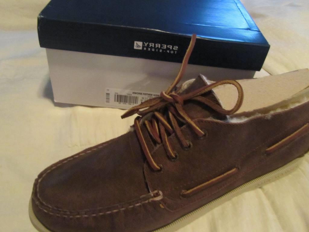 Sperry Top-Sider Chukka Brown Fur Boots Shoes US 13