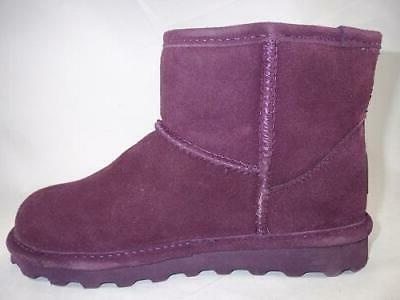 Bearpaw Purple Women's Winter Boots Leather Lined Slippers